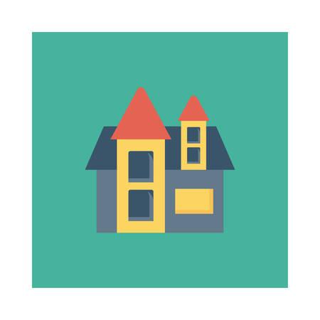 Halloween house icon.