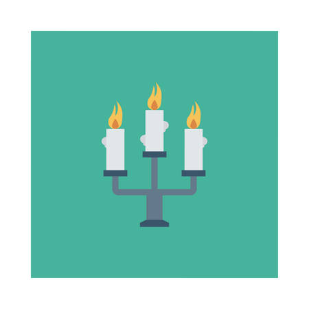 Halloween candles icon.