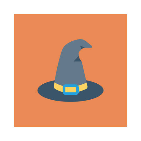 Witch hat illustration for Halloween event.