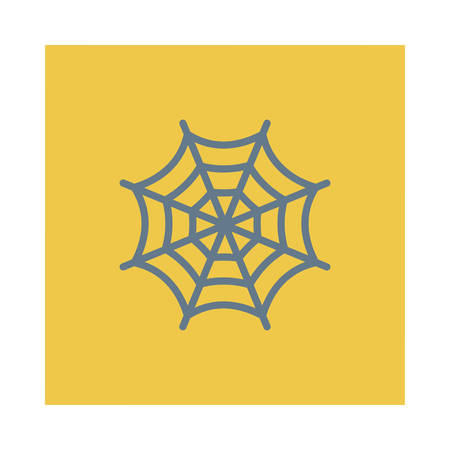 Cobweb illustration for Halloween event.
