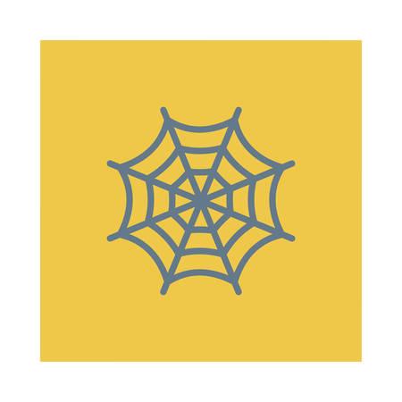Spinnewebillustratie voor Halloween-gebeurtenis. Stock Illustratie