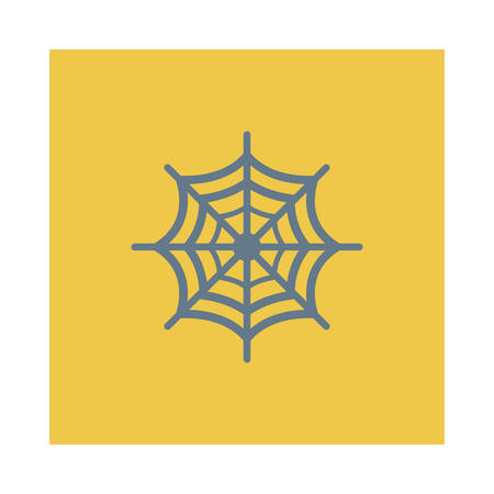 Spider web illustration for Halloween event.