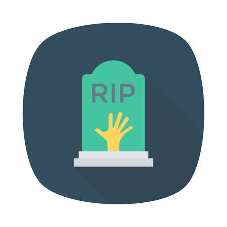 Coffin illustration for Halloween event.