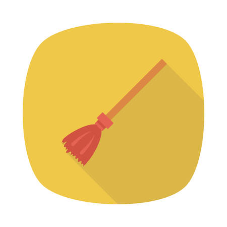Broom illustration for Halloween event. Фото со стока - 88395900