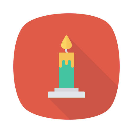 Halloween candle icon.