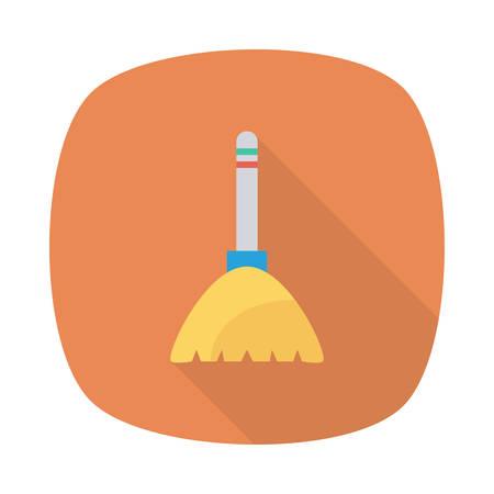 Halloween broom icon. Фото со стока - 88395748