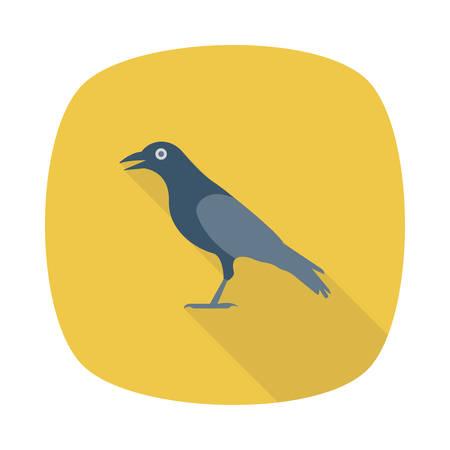 Halloween crow icon.
