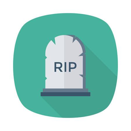 Halloween grave icon.