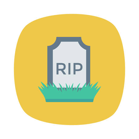 Coffin Halloween themed icon.