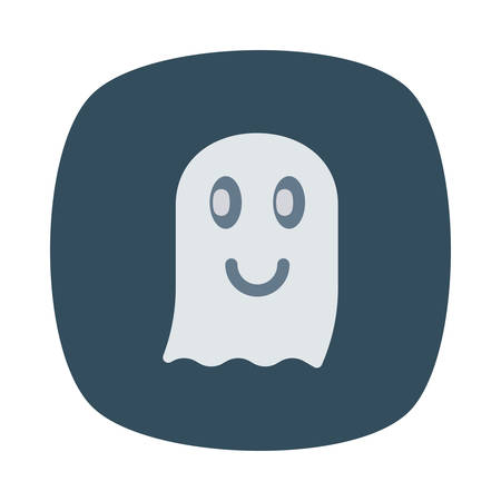 Spooky ghost Halloween themed icon.