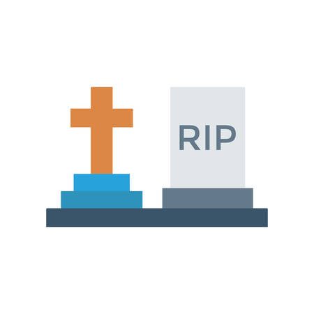 Tombstone Halloween themed icon.