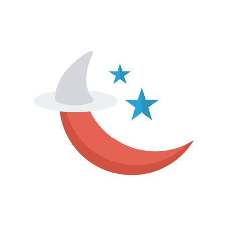 Night sky Halloween themed icon. Zdjęcie Seryjne - 88397214