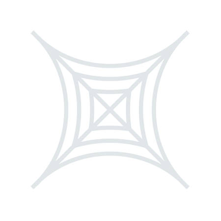 Spinneweb Halloween thema pictogram.