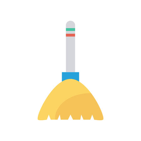 Broom Halloween themed icon.