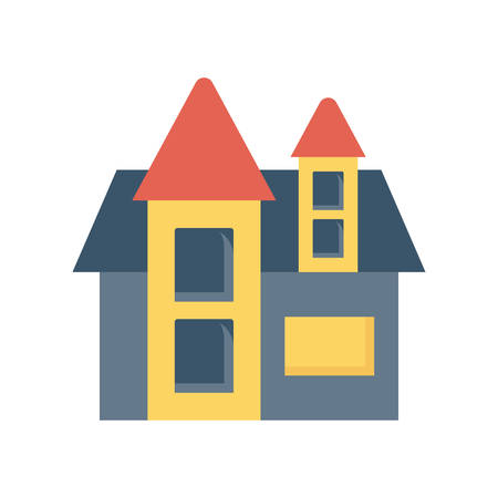 House Halloween themed icon. Banco de Imagens - 88397342