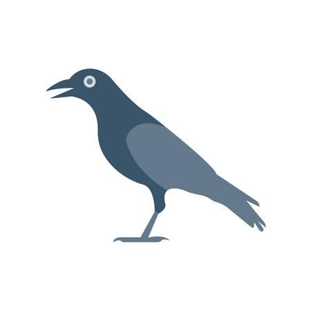 Crow Halloween themed icon. Illusztráció