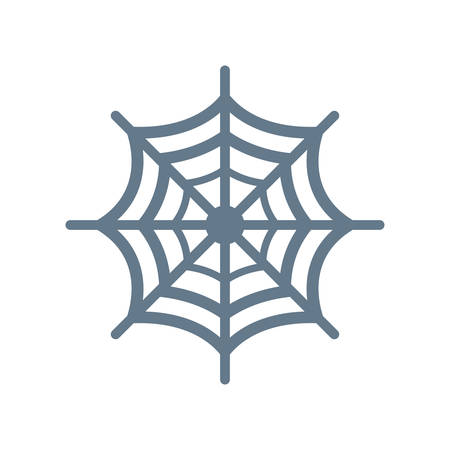 Spider web Halloween themed icon.