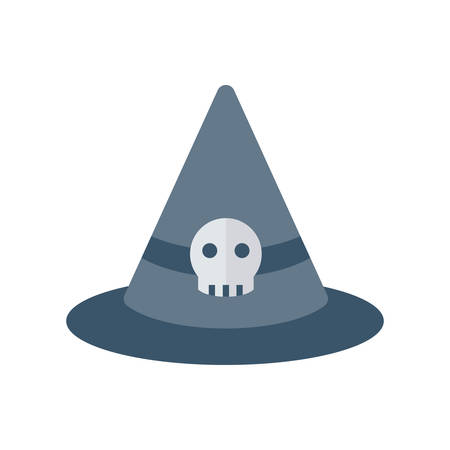 Witch hat Halloween themed icon.