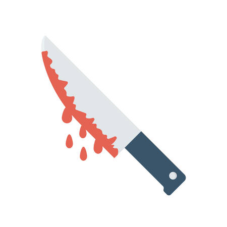 Bloody knife Halloween themed icon.