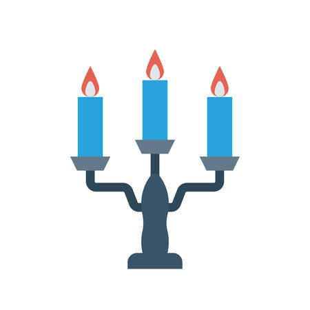 Candles Halloween themed icon.