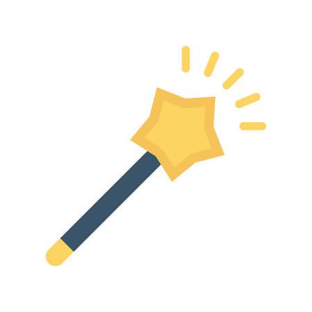 Magic wand Halloween themed icon.