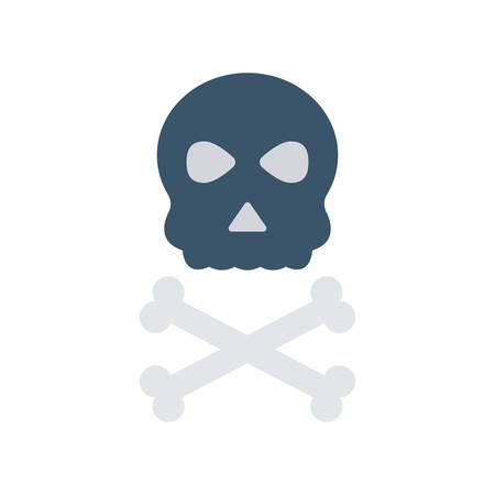 Skeleton Halloween themed icon.
