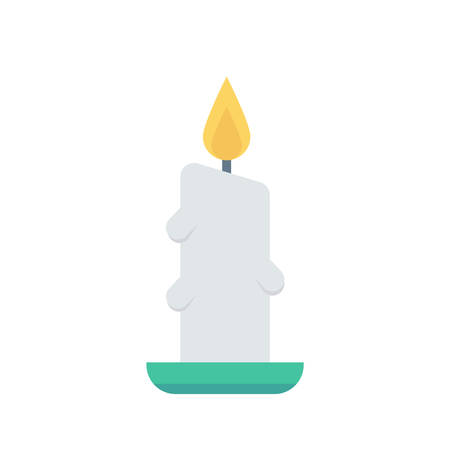 Candle light Halloween themed icon.