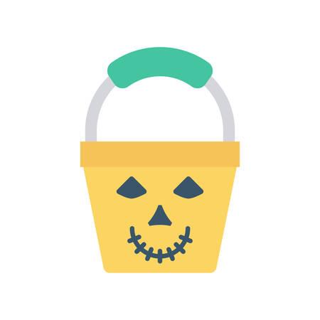 Basket Halloween themed icon.