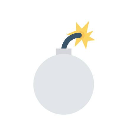 Explosive bomb Halloween themed icon.