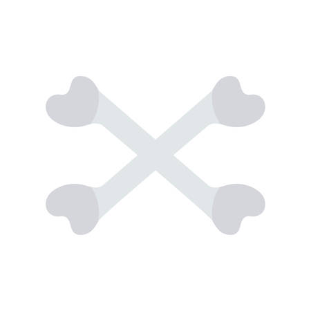Cross bones Halloween themed icon.