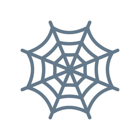 Cobweb Halloween themed icon.
