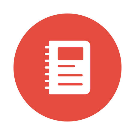 A notebook icon illustration.