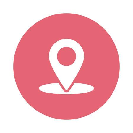 A marker or map pointer icon illustration. Illustration