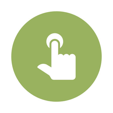 A tap button icon illustration.