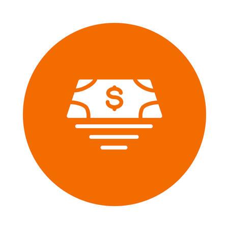 Set of money bills icon illustration.