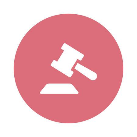 Een wet of rechtvaardigheid pictogram illustratie.