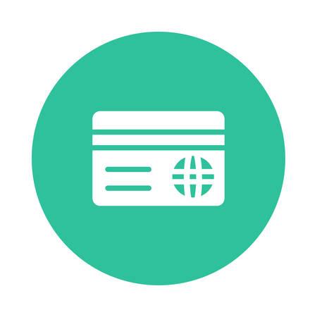 Credit card icon illustration.