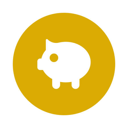 A piggy bank icon illustration.