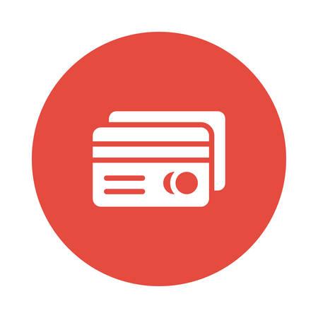 ATM cards icon illustration. Illustration