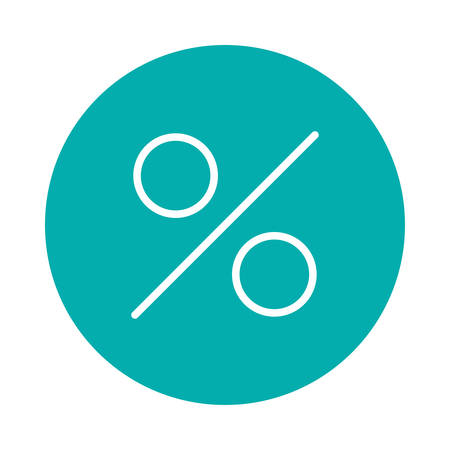 Sale or percentage icon illustration.