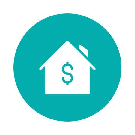 ドル記号付きの家。  イラスト・ベクター素材