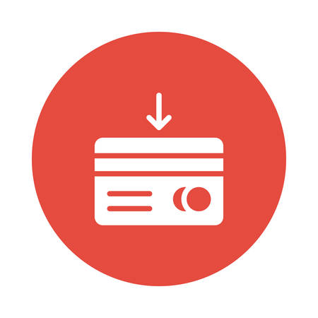 Credit or debit card icon illustration.