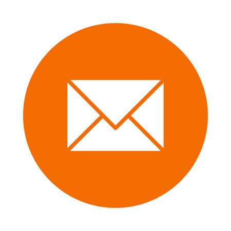 Una ilustración de icono de correo. Foto de archivo - 88806096