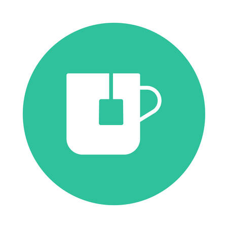 Tea in a mug icon illustration.