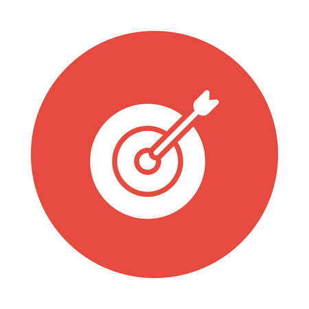 A target with arrow icon illustration. 向量圖像