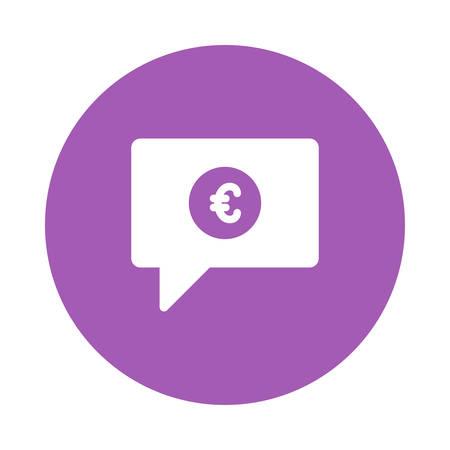 통화 기호가있는 채팅 아이콘