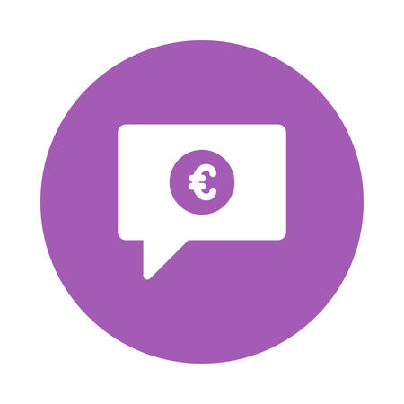 A chat icon with currency symbol