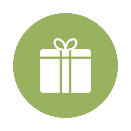 선물 또는 선물 아이콘 일러스트