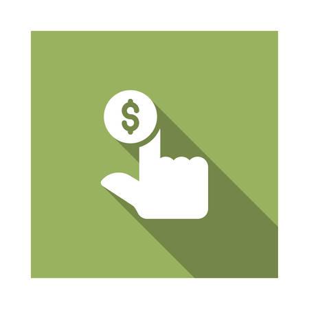 Hand in vector illustratie Stockfoto - 89034773