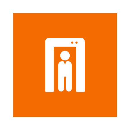 Security human scanner icon.